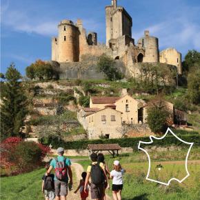 Affiche du château de Bonaguil à Nantes 2014